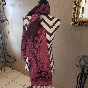 Beautiful Pink & Black Scarf or Shaw
